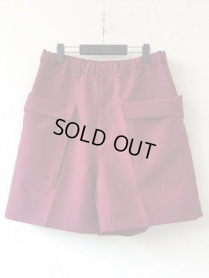 画像1: 【ESSAY】別注Tuck Shorts-バーガンディ